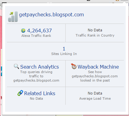 Alexa ranking of getpaychecks.blogspot.com