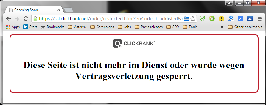 Even blocked at ClickBank