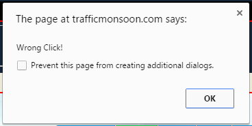 "Screenshot of the error message ""Wrong Click!"""